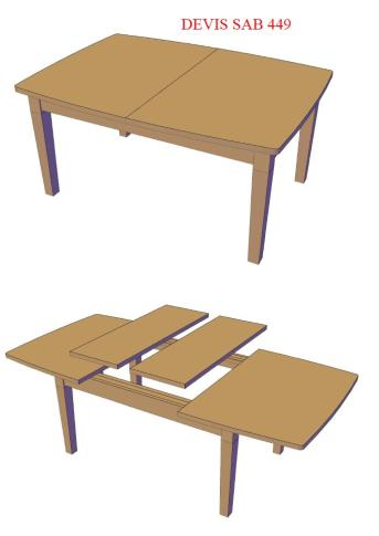 table extensible en vieux bois sur mesure style antique. Black Bedroom Furniture Sets. Home Design Ideas