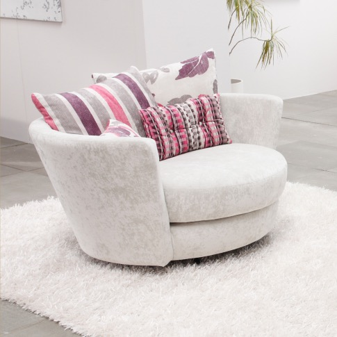 fauteuil rond pivotant mynest. Black Bedroom Furniture Sets. Home Design Ideas