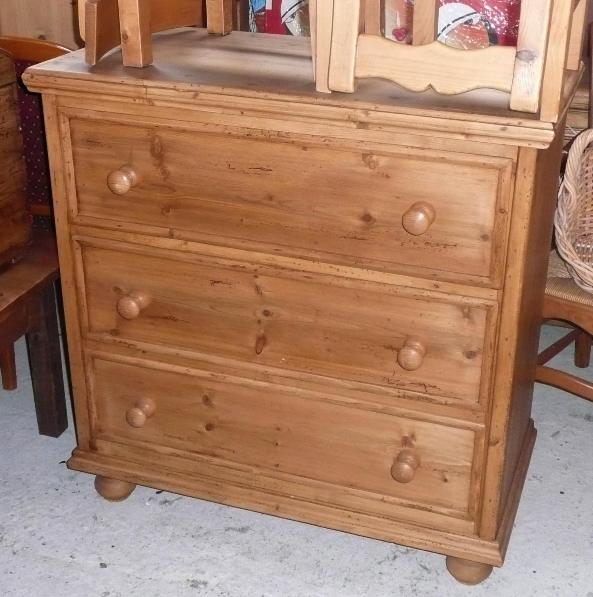 commode 3 tiroirs ancienne
